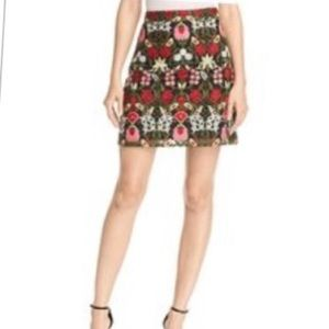 LUCY PARIS Women Embroidered A-line Skirt Size XS